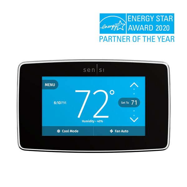 Emerson Sensi Touch Smart Thermostat with Color Touchscreen image 14958963425333
