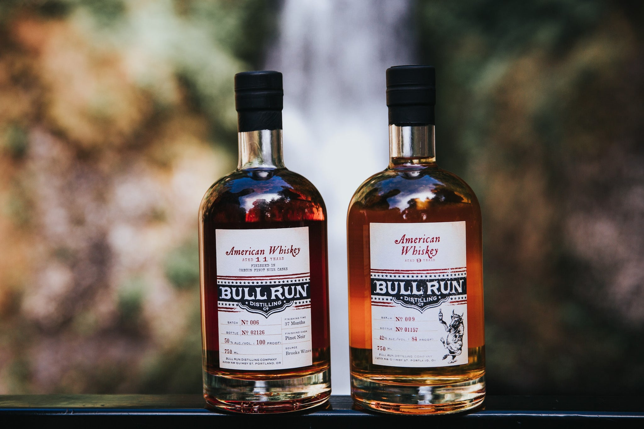 bull run distillery american whiskey and pinot finished