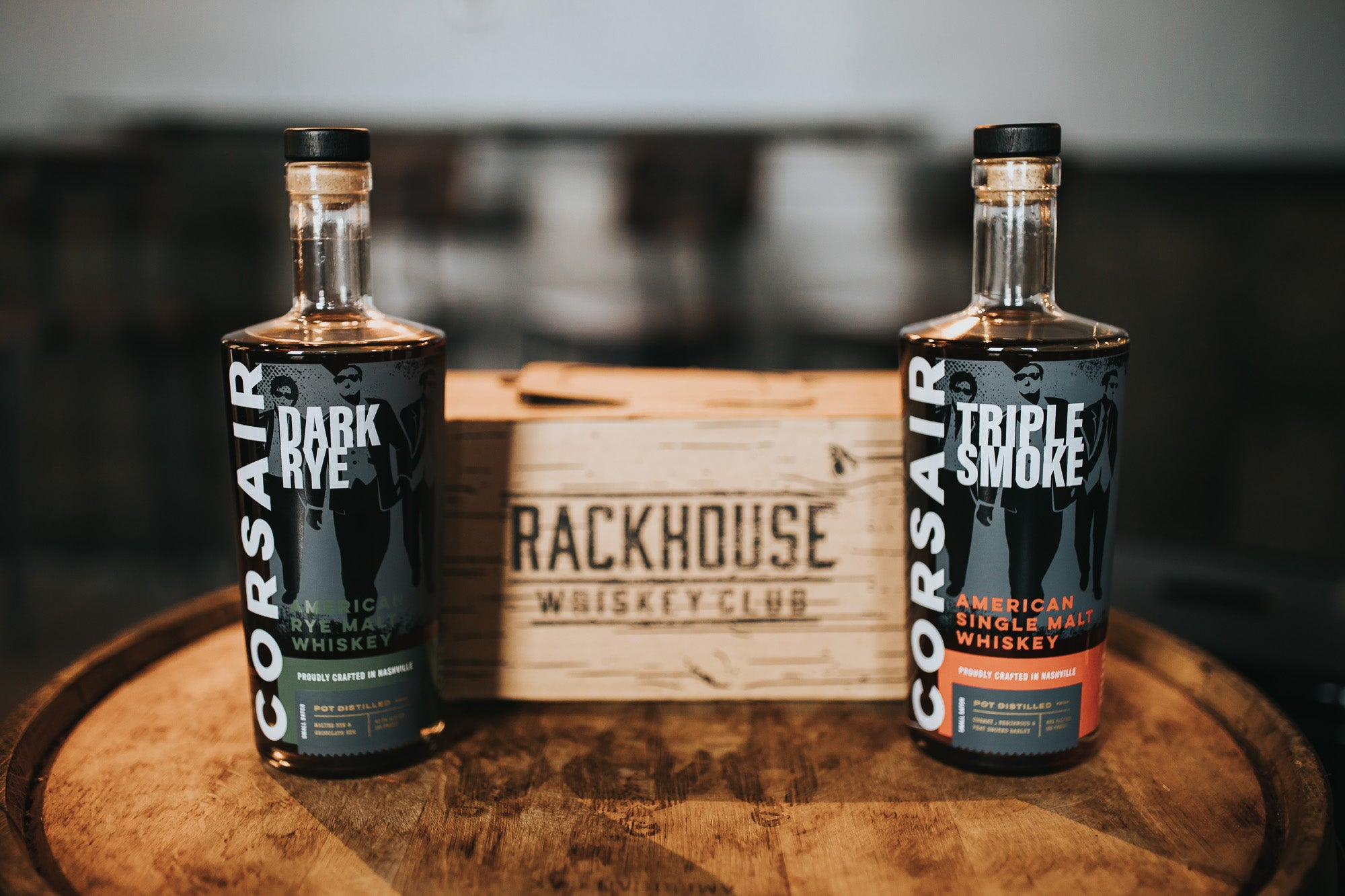 RackHouse Whiskey Club features Corsair Distillery