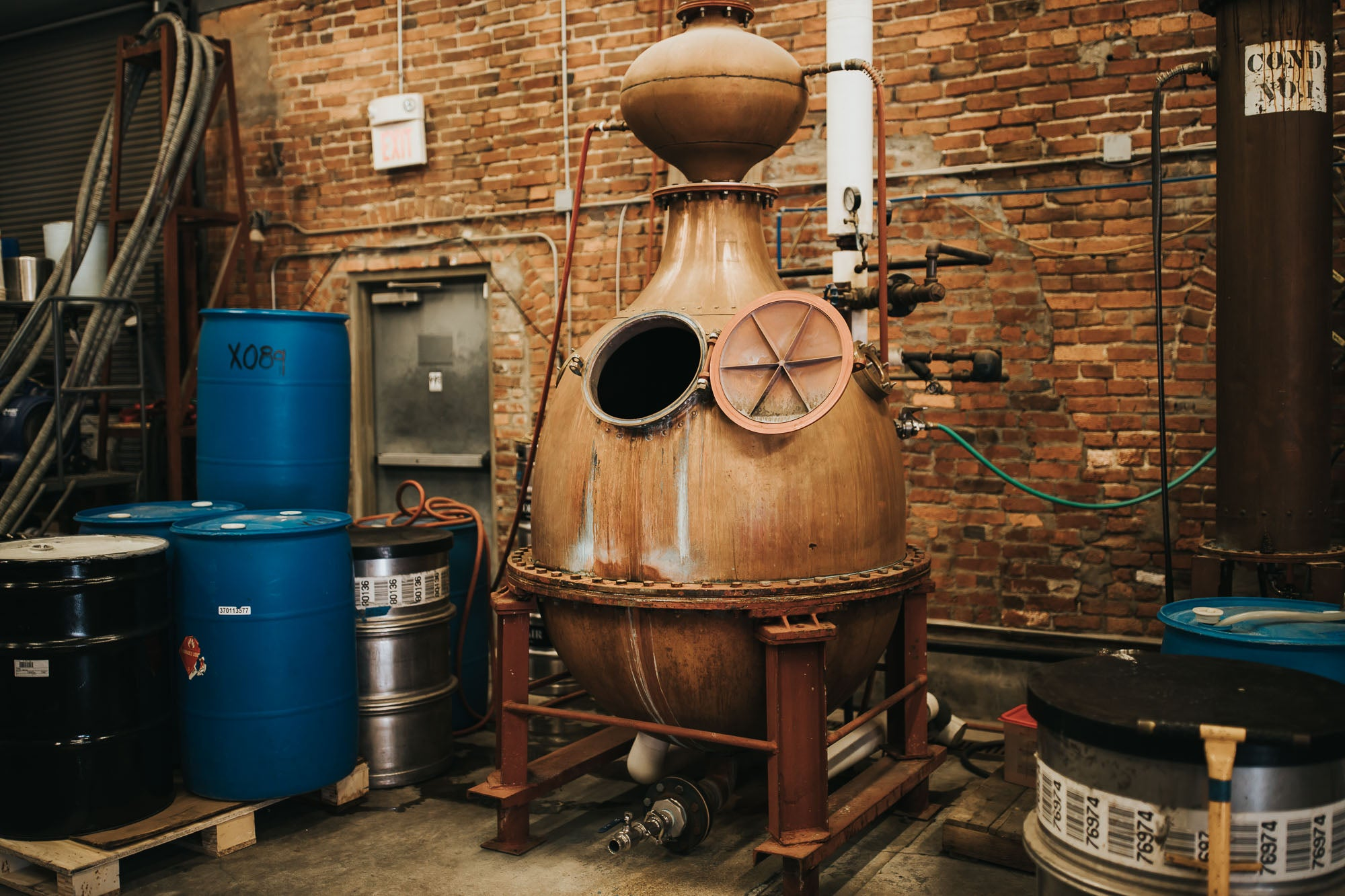 Corsair Distillery still