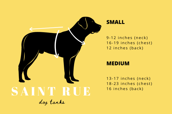 sport dog tank sizing chart