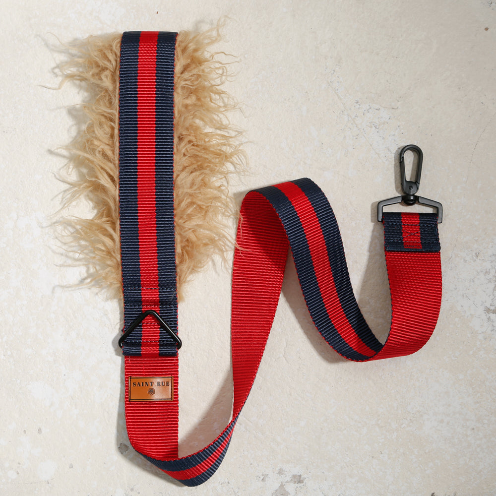 high quality dog leash red navy