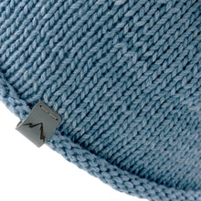 Load image into Gallery viewer, Closeup view Kéwkʷu hat in blue on isolate white backdrop