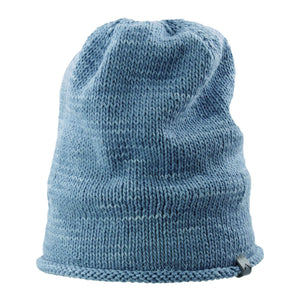 Front view Kéwkʷu hat in blue on isolate white backdrop