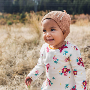 The Syíqm Baby Hat in Peach