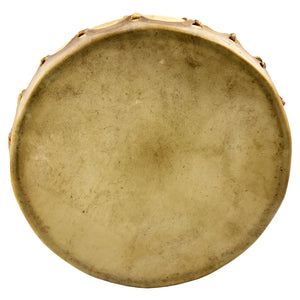 Traditional Hand Drum on isolated white backdrop