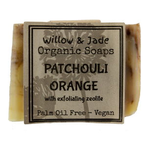 Patchouli Orange Soap on white isolated backdrop