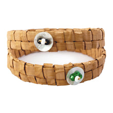 Load image into Gallery viewer, Two woven cedar bark bracelets on isolated white backdrop
