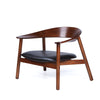 Bentwood Arm Chair - Black Leather
