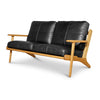 MAP 2 SEAT SOFA - BLACK LEATHER