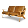 MAP 2 SEAT SOFA - TAN LEATHER