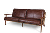 Map 3 Seat Sofa - Brown Leather