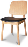 Arna Dining Chair Oiled Oak - Black Leather