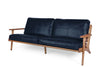 Map 3 Seat Sofa - Black Leather