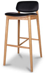 Arna Bar Stool Oiled Oak - Black Leather