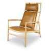 Vara High Back Lounge Chair -Light Brown