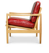 Den Arm Chair - Oak - Red Leather