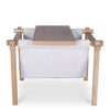 Forest Oak Side Table/Fabric Magazine Holder - Off White