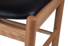 Forest 02 Dining Chair - Black Leather