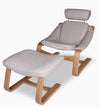 Kurva Lounge Chair with Ottoman - Shoreline