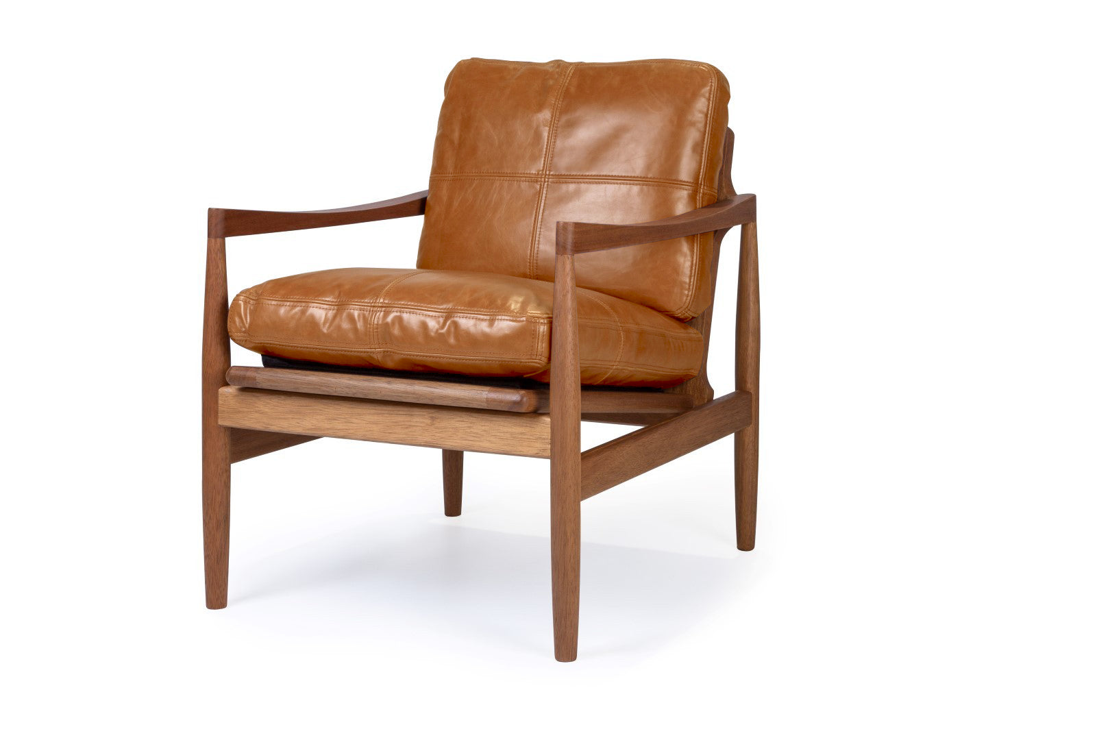 Den arm chair tan leather
