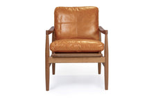 Den Arm Chair - Tan Leather