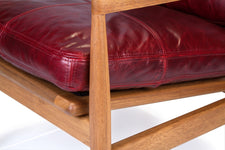 Den Arm Chair - Red Leather