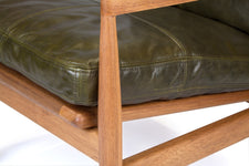 Den Arm Chair - Green Leather