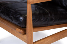 Den Arm Chair - Black Leather