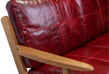MAP 2 SEAT SOFA - RED LEATHER
