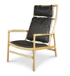 Vara High Back Lounge Chair - Black
