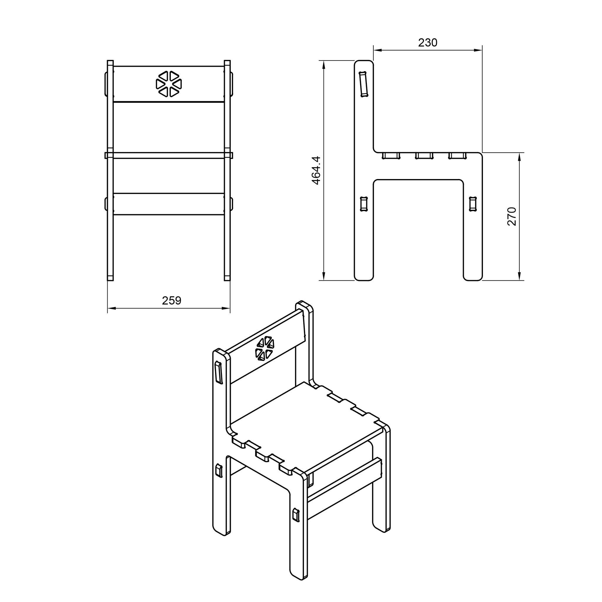 Children's Chair DXF file