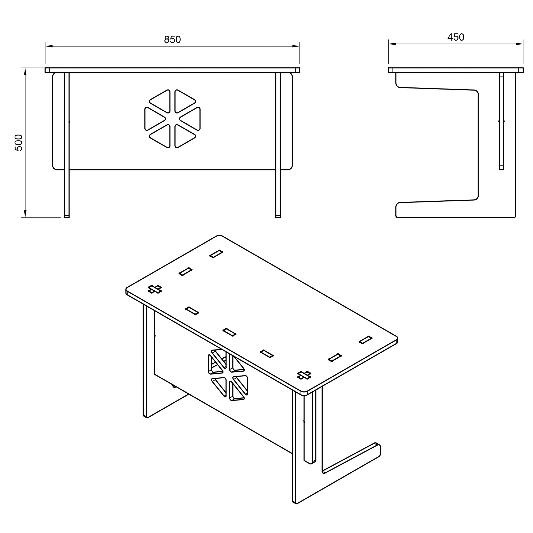 Children's Table DXF file