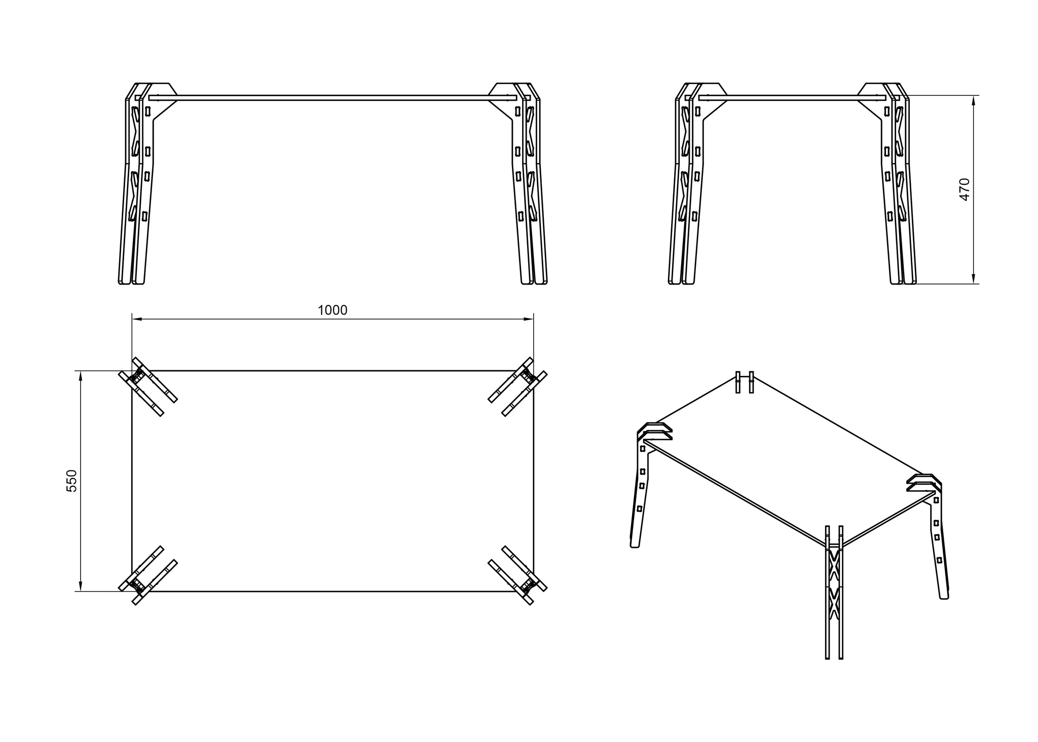 Coffee Table DXF file