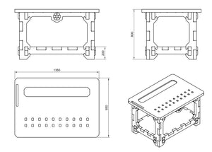 Crafting Table DXF file