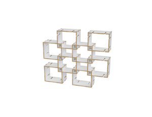 Cube shelf DXF file