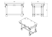 Load image into Gallery viewer, Foldable Table DXF file
