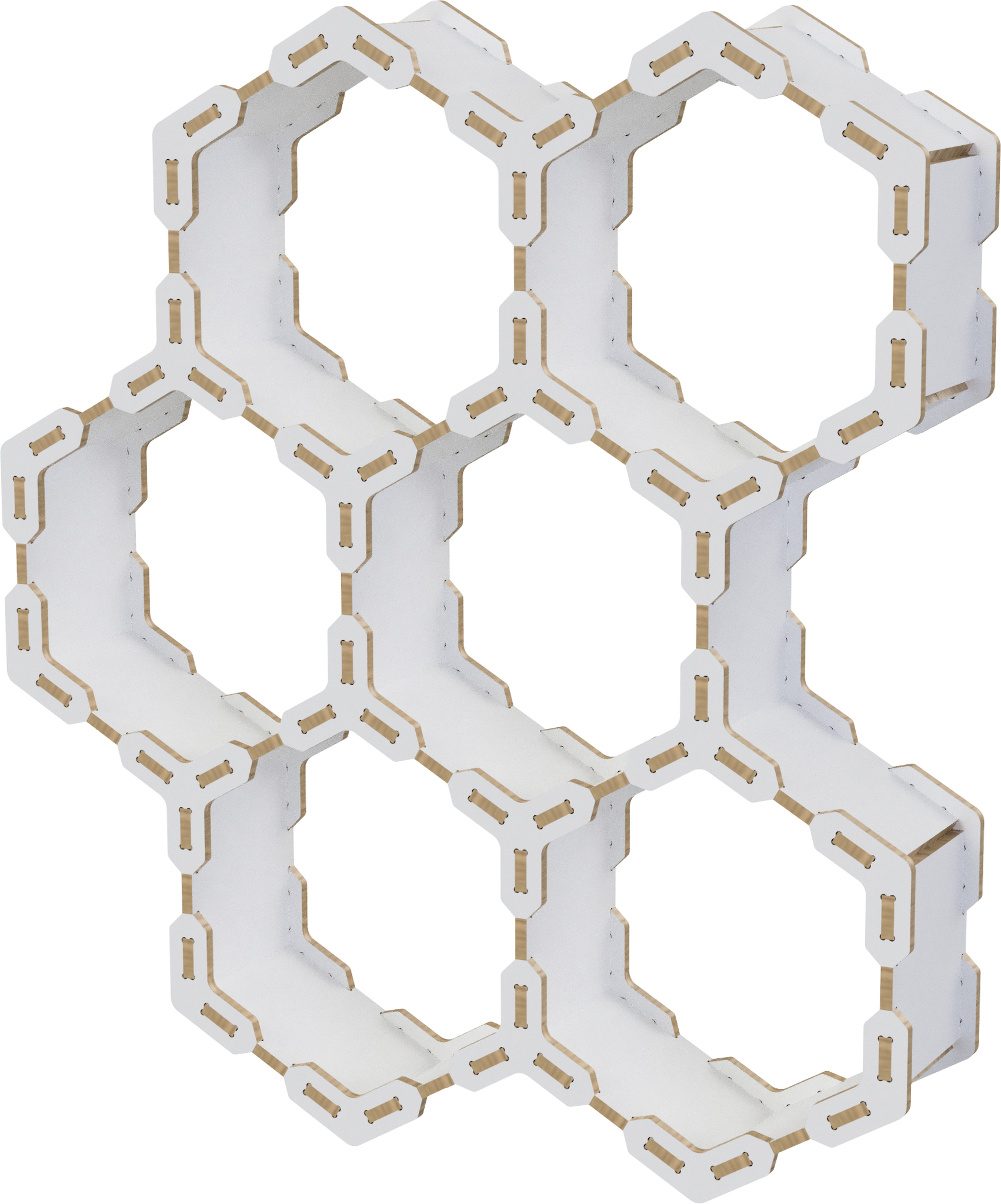 Honeycomb shelf DXF file