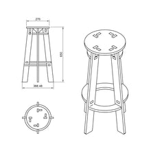 Load image into Gallery viewer, Bar Stool DXF file