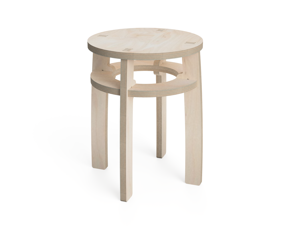 Simple Stool (Circle) DXF file