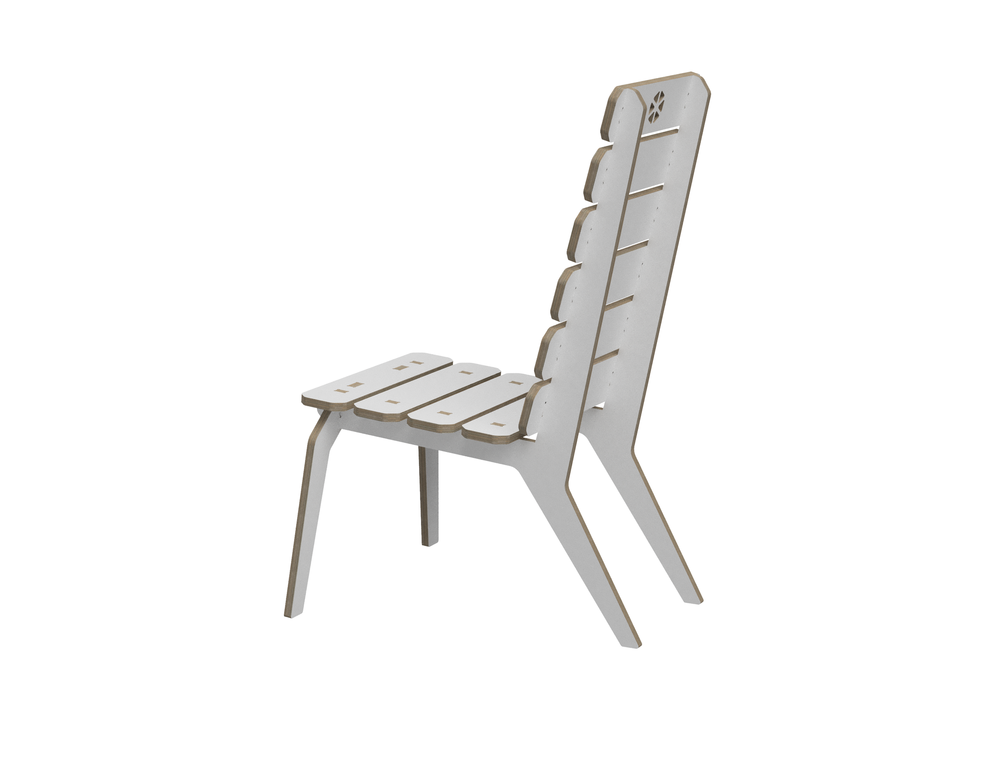 Lounge chair DXF file