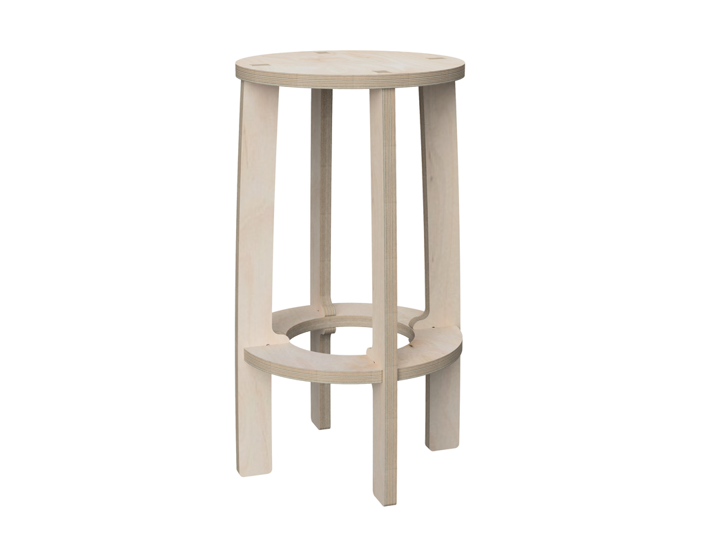 Simple Bar Stool (Circle) DXF file