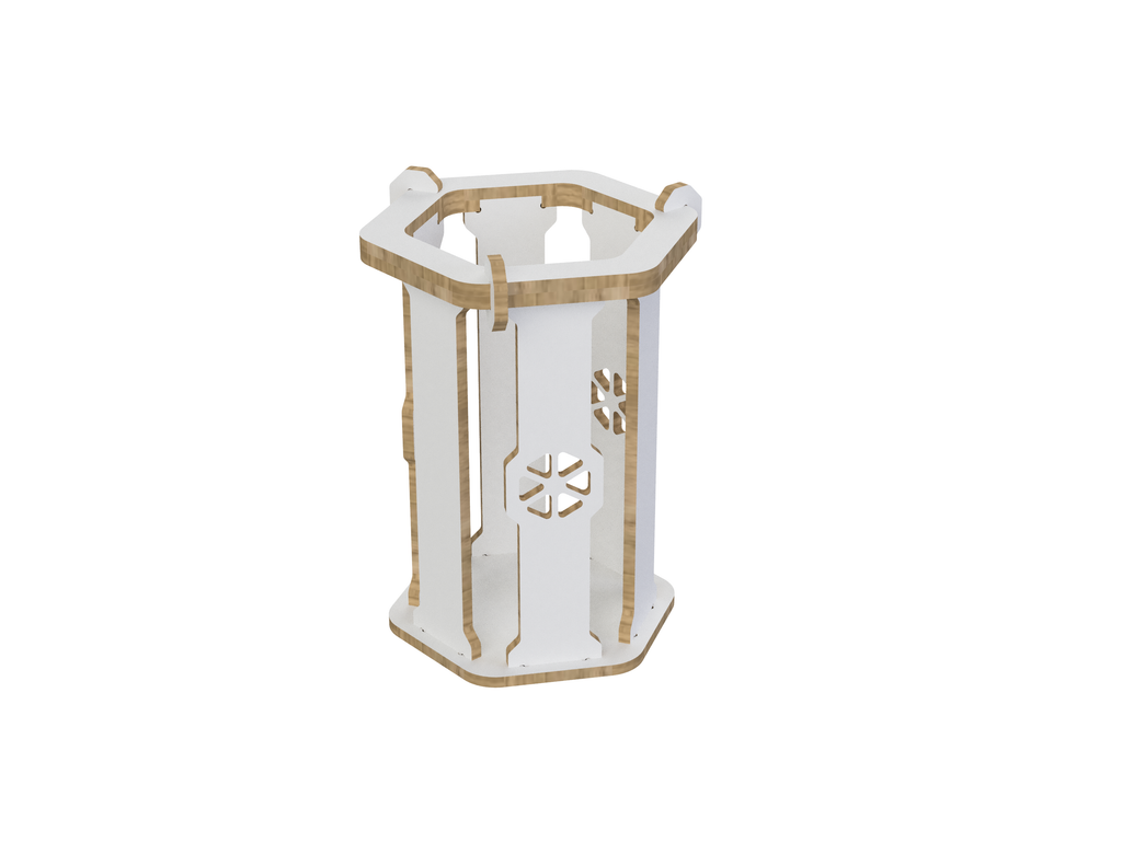 Trash can DXF file