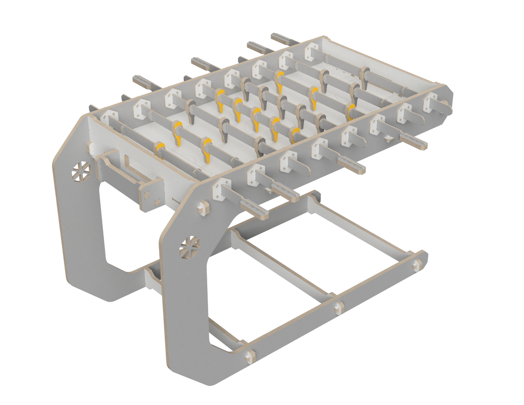 Foosball table DXF file