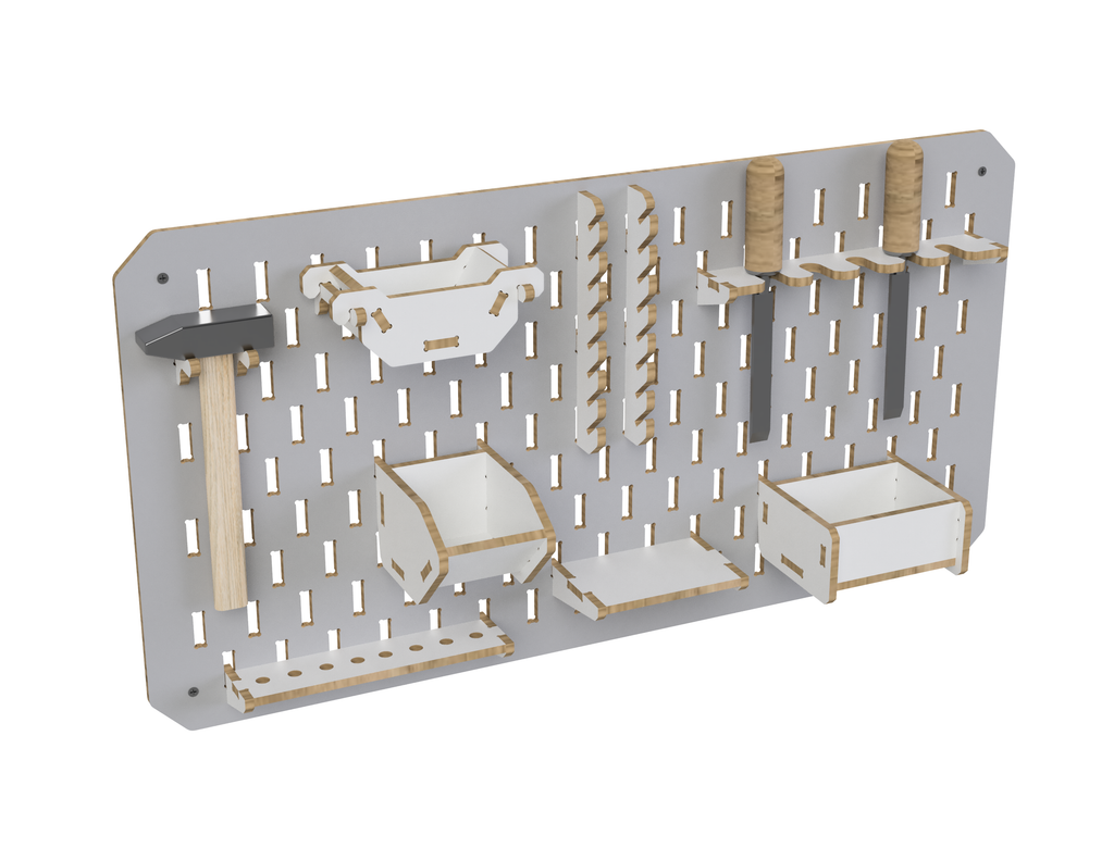 Pegboard DXF file
