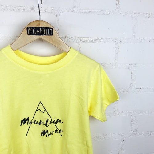 Yellow Kids Mountain Mover T-Shirt