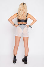 Load image into Gallery viewer, Gia mesh shorts in white