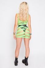 Load image into Gallery viewer, Zada mesh dress in green