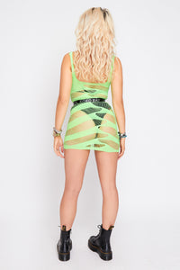 Zada mesh dress in green