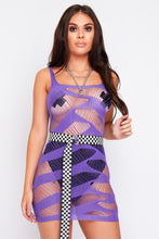 Load image into Gallery viewer, Zada mesh dress in purple